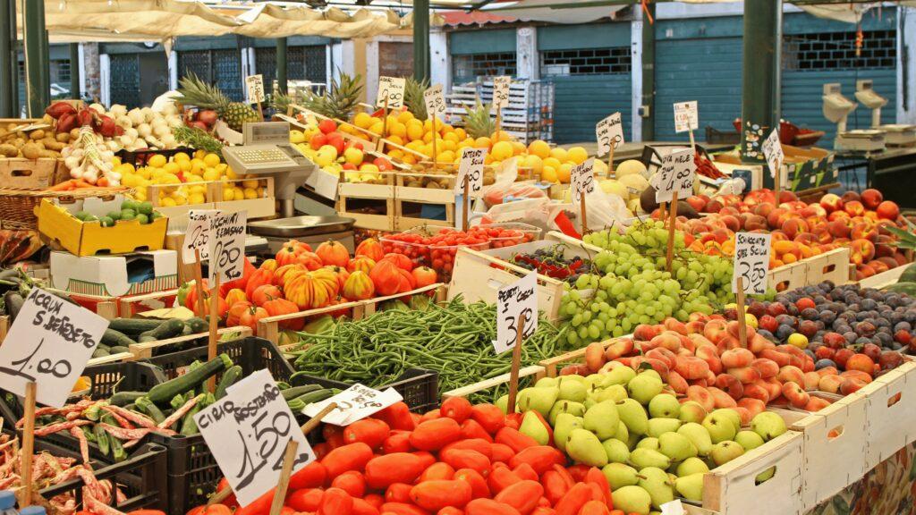 French Riviera fruit markets